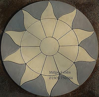 Paving sun circle 1.8m slabs stone garden patio (FREE DEL NOTE EXCEPTIONS)