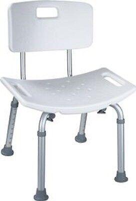 Adjustable Heavy Duty Shower Chair with Back, Bench Seat Chair Stool Bathtub