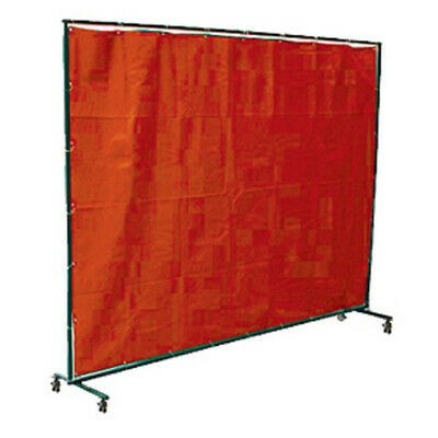 Red Welding Curtain / Screen and frame Combo - Heavy duty on wheels- 2.0m x 2.0m