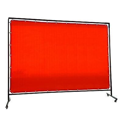 Welding Curtain / Screen and frame Combo - Heavy duty on wheels-  1.8m x 2.7m