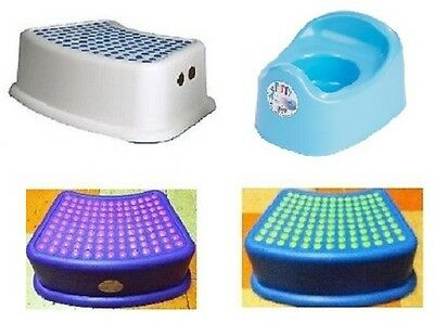 Children Kids Anti Non Slip Step Stool Bathroom Bath Room Toilet Potty Training
