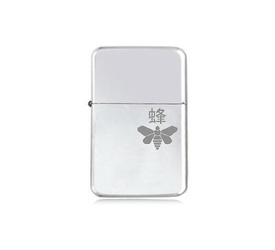 ★STAR★ engraved BREAKING BAD LIGHTER silver black pink gold BEE WASP MOTH LOGO