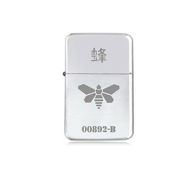 ★STAR★ engraved BREAKING BAD LIGHTER silver black pink gold WASP BEE MOTH LOGO