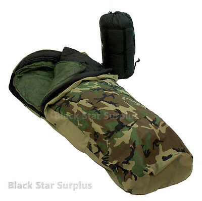 4 PC  Weather Resistant Military Modular Sleeping System  50° to -40°+  USED