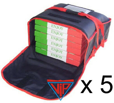 5x Pizza Hot Food Delivery Bag HR-544820C - NO SWEAT