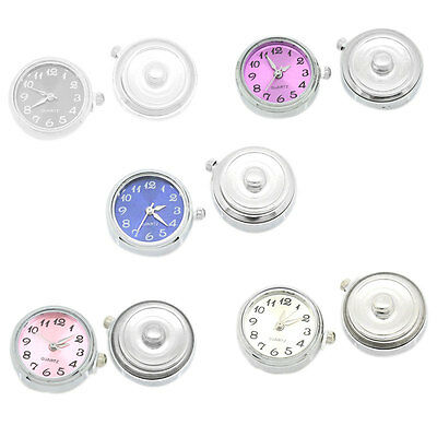 "5PC Watch Face Snap Click Buttons Snap Mixed 25mmx21mm(1""x7/8"")"