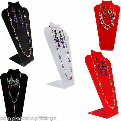 BRAND NEW ACRYLIC NECKLACE CHAIN JEWELRY DISPLAY STANDS SIZE 12''H x 6.25''L