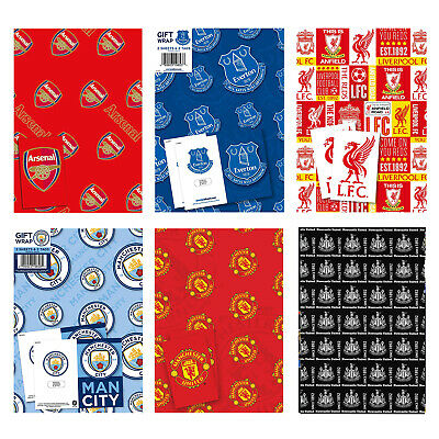 Football Wrapping Paper Wrap + Gift Tag OFFICIAL Christmas Xmas Birthday