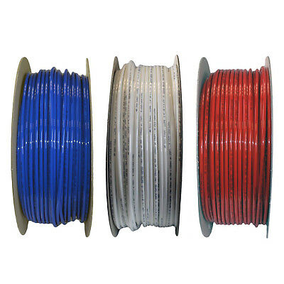 """Reverse Osmosis 1/4"""" Water Pipe *red, Blue & White Pipe - Choose Your Length*"""