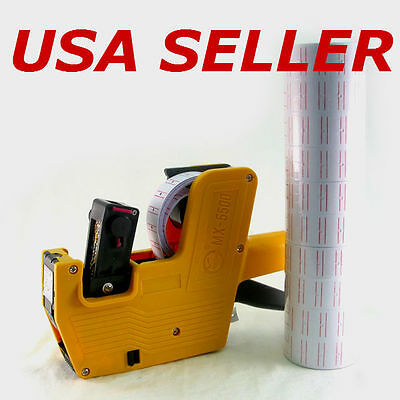MX-5500 Price Tag Label Gun plus 10 Rolls Labels