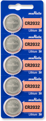 Sony CR2032 3V Lithium Coin Cell Battery (5 Batteries) - Tracking Included!