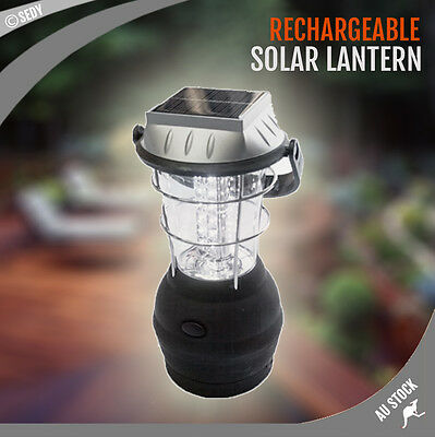 Solar Lamp Super Bright 36 LED Lantern Multi-Function Camping Light Rechargeable