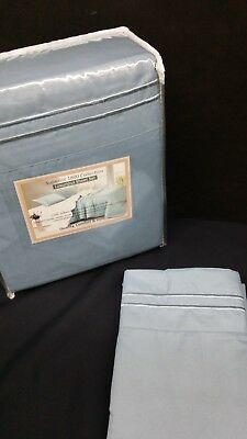 SLATE BLUE Queen Waterbed Sheet set FREE Stay Tuck Poles, Premium Quality !!