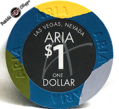 $1 One Dollar Poker Gaming Chip Aria Hotel Casino Las Vegas Nevada 2009 New