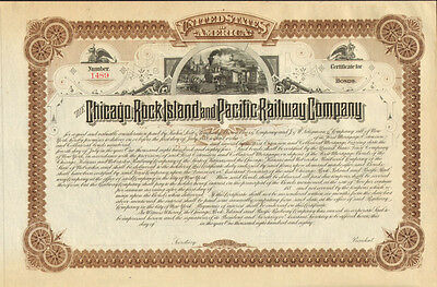 The Chicago Rock Island and Pacific Railway Company > 1880s stock certificate
