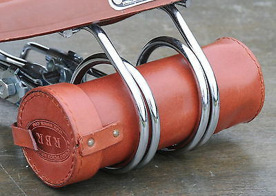 Lt Brown Leather Bike Tool  Bag / Pouch  4 Vintage Bicycle Hairpin Saddles Phone