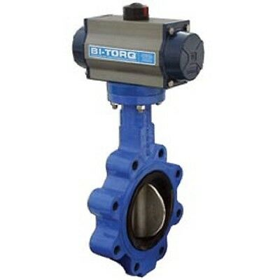 "NEW! 4"" Lug Style Butterfly Valve W/ Buna Seals & Dbl. Acting Pneum. Actuator!!"