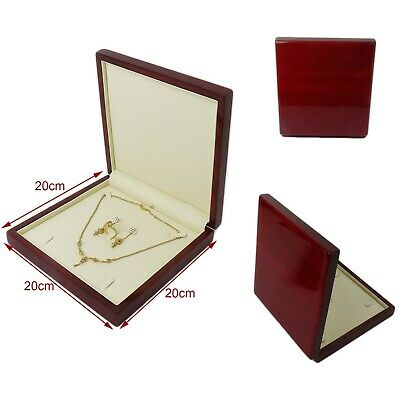 Brand New High Quality Wooden Jewellery Ring Bracelet Bangle Earring Set Box