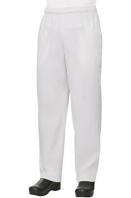 New 2 pc Baggy White Chef Pants size L