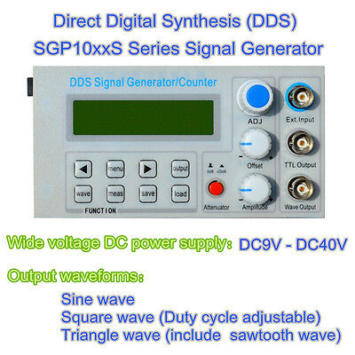 2MHz DDS function signal generator, frequency meter, square wave pulse test