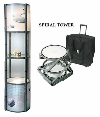 Spiral Twister Tower Pop-Up Stand, Exhibition display shelving, case, column