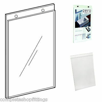 A4 A5 Acrylic Wall Mount Poster Holders Advertisement Leaflet Menu Sign Displays