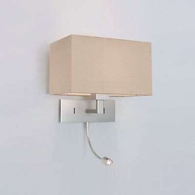 ASTRO 0679 Park Lane LED 2 Light Wall Light in Matt Nickel (without shade)