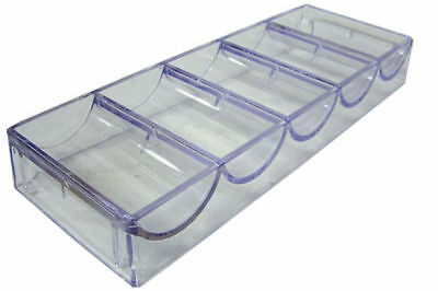 10 Clear Acrylic Casino Chip Trays Hold Poker Chips
