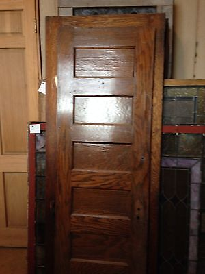 One Interior Flat Panel Oak Door 23 And Three-Quarter Inches Wide Od 2