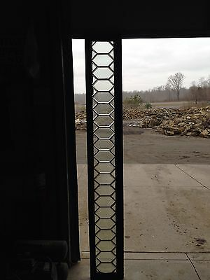 Antique All Beveled Glass Geometric Transom Window Sg 105