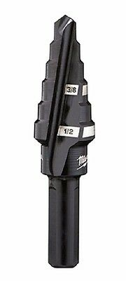 Milwaukee 48-89-9206 #6 Step Drill Bit, 3/8 in. & 1/2 in. by 1/16 in.