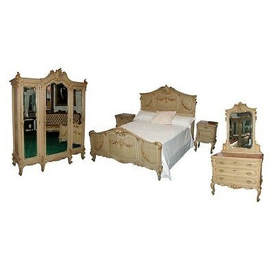 French Painted Bedroom Set c. 1890, 9-pc #5009B