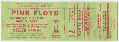 PINK FLOYD 1977 ANIMALS Unused Concert Ticket Anaheim