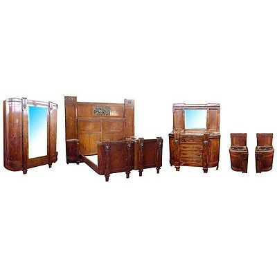 Italian 5-Pc. Inlaid Bedroom Suite, Antique  c. 1930 #5151