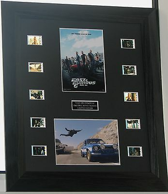 FAST AND FURIOUS  SERIES  FILM CELL MOUNT  Original Cells inc PAUL WALKER ACTION