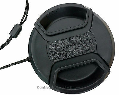 58mm Centre Pinch Lens Cap w/ keeper - Universal: Fits any lens with 58mm thread