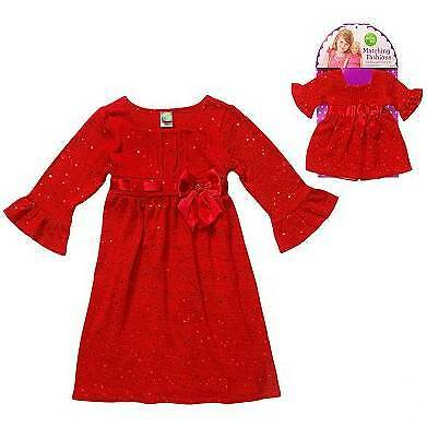 NWT Dollie & Me 4 5 6 Red Holiday Dress Matching Girl Doll fits American Girl