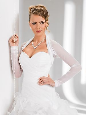 New Bridal Womens Tulle Bolero Shrug Wedding Jacket Shawl S/M/L/XL/XXL/XXXL