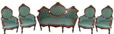 Victorian Parlor Suite by John Jelliff, Rosewood, 1800-1899 #2632