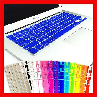 "Colourful Soft Silicone Keyboard Cover for Apple MacBook Pro 13"" 15"" 17"" Air"