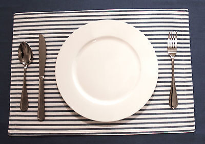Flato Cotton Plain Solid or Stripe Placemats Table Mat new,13x19 inches,Set of 4