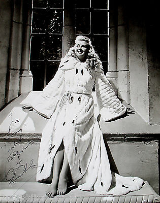 BETTY GRABLE-Mega Rare 11x13 Autographed & Inscribed Photograph-Sexy Pinup Girl