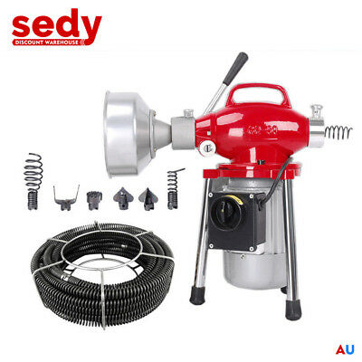 Electric Drain Cleaning Machine Sewer Plumbing Tool Snake Sewage Pipe Cleaner