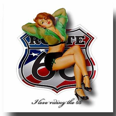 Route 66  Metal Drinks Coaster,enamelled Finish,