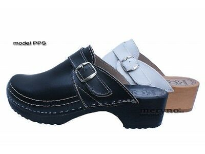 Women Shoes Clog rec. hospital stuff, real leather PPS