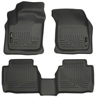 2013-2016 Ford Fusion|Lincoln MKZ Black Husky Liners WeatherBeater Floor Mat Set