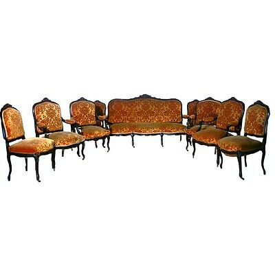 French Salon Suite, Sofa & Chairs, France 1800-1899 #1905