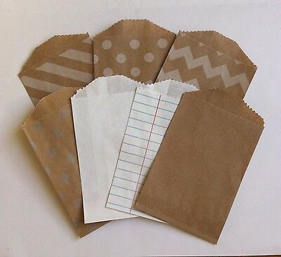 25 Little Bitty Bags Mini Paper Bags Party Favour Sweet Treats Christmas Crafts