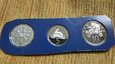 Three  Unc Jamaica 1976  Proof Coins From Proof Set