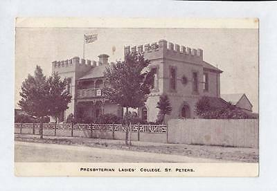 1910 Pt Pu Scarce Postcard Presbyterian Ladies College St Peters Adelaide Sa L41